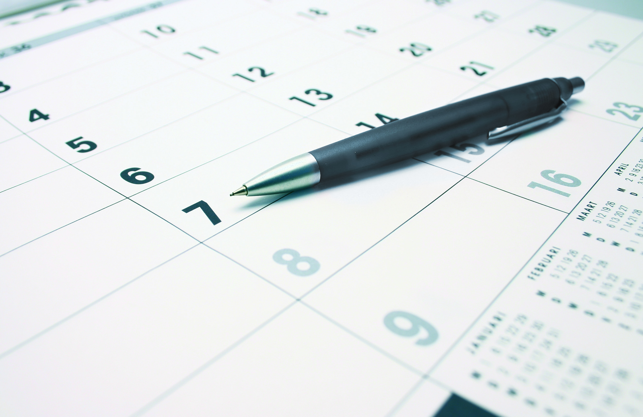 calendar, appointment, planning, pen, plan, date, day, week, month, year, empty Fotolia_4319496_L_blau.jpg
